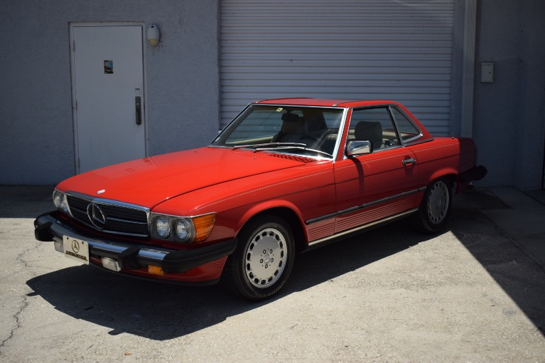 Used 1986 Mercedes-Benz 560 SL Cabrio for sale $14,997 at Track and Field Motors in Safety Harbor FL 34695 6