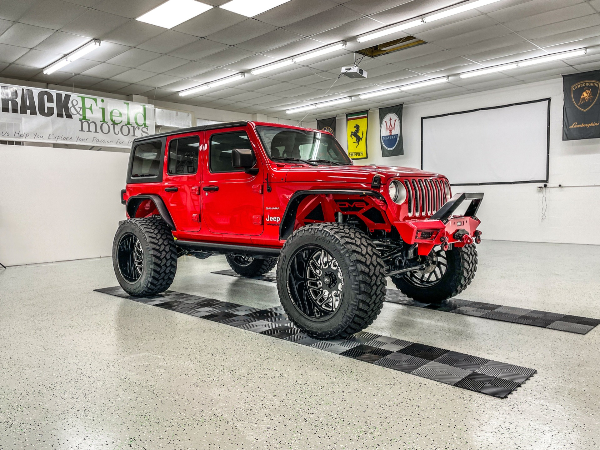 Used 2019 Jeep Wrangler Unlimited Sahara Sport Utility 4D for sale $46,997 at Track and Field Motors in Safety Harbor FL