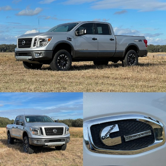 Used 2017 Nissan TITAN XD Crew Cab PRO-4X Pickup 4D 6 1/2 ft for sale $37,497 at Track and Field Motors in Safety Harbor FL 34695 2
