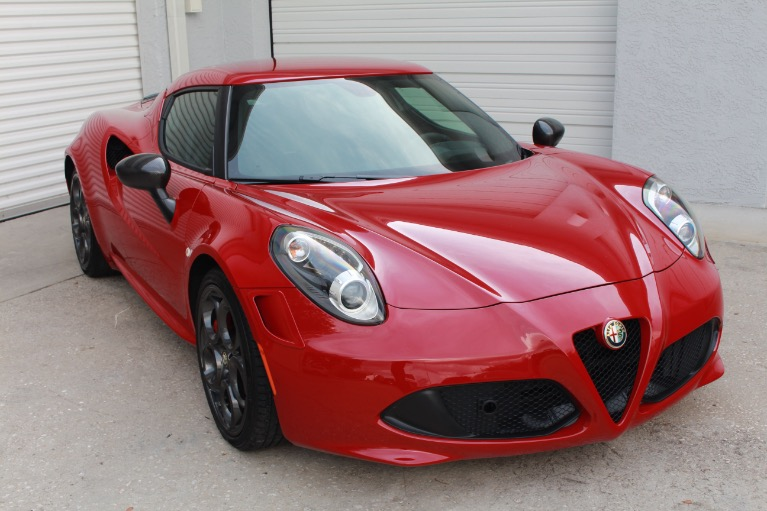 Used 2015 Alfa Romeo 4C Launch Edition Coupe 2D for sale $41,997 at Track and Field Motors in Safety Harbor FL 34695 1
